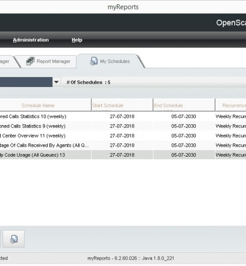 Myreports module on Openscape Business